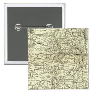 Map Ohio and Mississippi Railway 15 Cm Square Badge