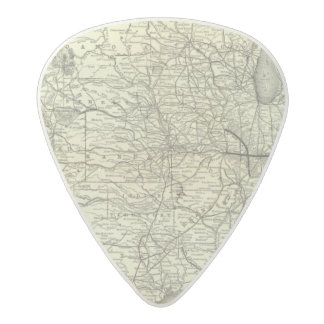 Map Ohio and Mississippi Railway Acetal Guitar Pick