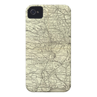 Map Ohio and Mississippi Railway Case-Mate iPhone 4 Cases