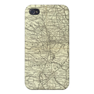 Map Ohio and Mississippi Railway Cases For iPhone 4