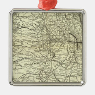Map Ohio and Mississippi Railway Christmas Ornament