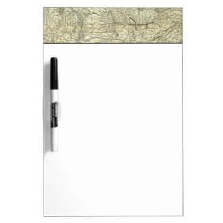 Map Ohio and Mississippi Railway Dry-Erase Whiteboard