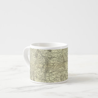Map Ohio and Mississippi Railway Espresso Cup