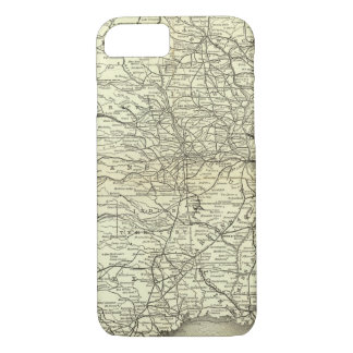 Map Ohio and Mississippi Railway iPhone 8/7 Case