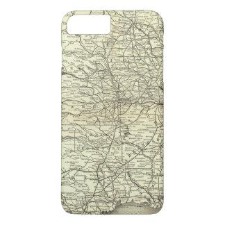 Map Ohio and Mississippi Railway iPhone 8 Plus/7 Plus Case