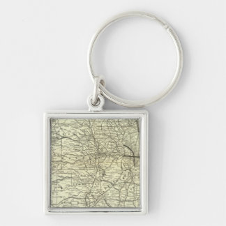 Map Ohio and Mississippi Railway Key Ring