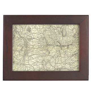 Map Ohio and Mississippi Railway Memory Box