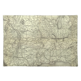 Map Ohio and Mississippi Railway Placemat