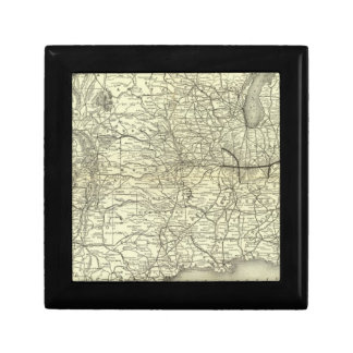 Map Ohio and Mississippi Railway Small Square Gift Box