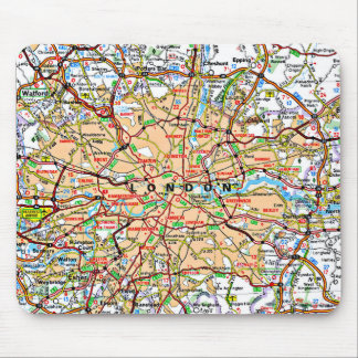 Map ooof London England Mouse Pad