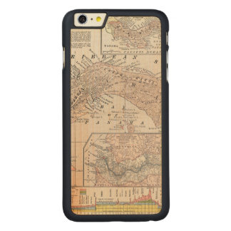 MAP: PANAMA, 1907 CARVED MAPLE iPhone 6 PLUS CASE