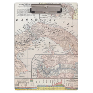 MAP: PANAMA, 1907 CLIPBOARDS