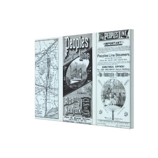 Map Peoples Line of Steamers Canvas Print