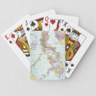 MAP: PHILIPPINES, 1905 PLAYING CARDS