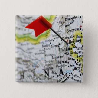 Map pin placed in Beijing, China on map,