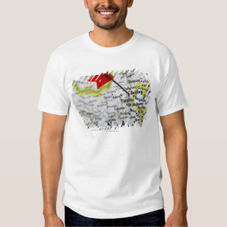 Map pin placed in Beijing, China on map, Tee Shirt