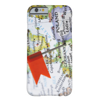 Map pin placed in Berlin, Germany on map, Barely There iPhone 6 Case