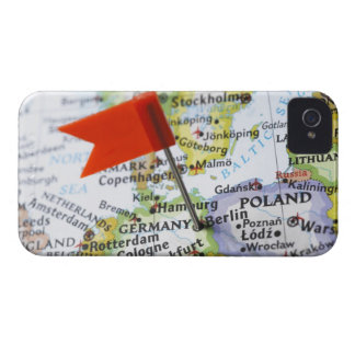 Map pin placed in Berlin, Germany on map, Case-Mate iPhone 4 Case