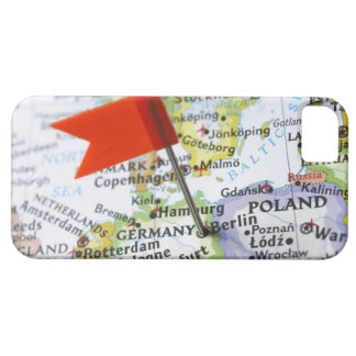 Map pin placed in Berlin, Germany on map, iPhone 5 Case