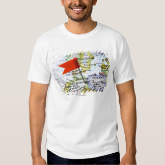 Map pin placed in Berlin, Germany on map, T-shirt