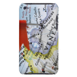 Map pin placed in Caracas, Venezuela on map, Barely There iPod Cases