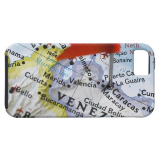 Map pin placed in Caracas, Venezuela on map, iPhone 5 Case