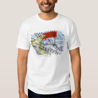 Map pin placed in Caracas, Venezuela on map, T Shirt