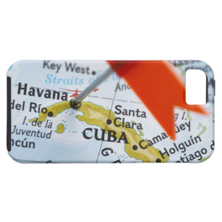 Map pin placed in Havana, Cuba on map, close-up Tough iPhone 5 Case