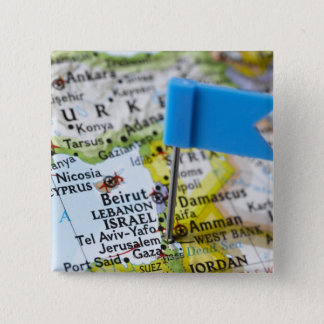 Map pin placed in Jerusalem, Israel on map,
