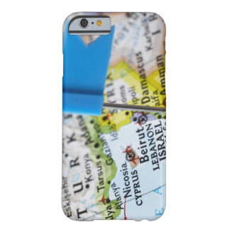 Map pin placed in Jerusalem, Israel on map, Barely There iPhone 6 Case