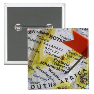 Map pin placed in Johannesburg, South Africa on
