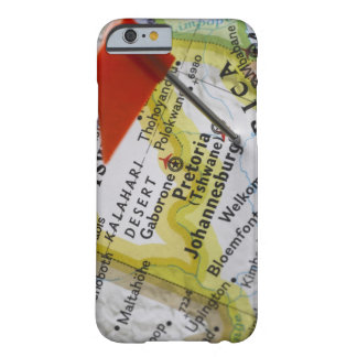 Map pin placed in Johannesburg, South Africa on Barely There iPhone 6 Case