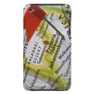 Map pin placed in Johannesburg, South Africa on Case-Mate iPod Touch Case