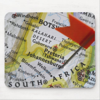 Map pin placed in Johannesburg, South Africa on Mouse Mat