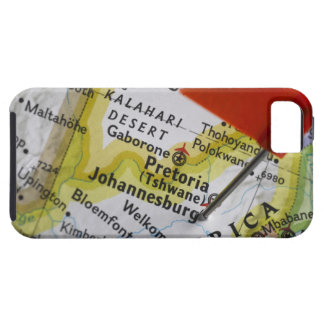 Map pin placed in Johannesburg, South Africa on Tough iPhone 5 Case