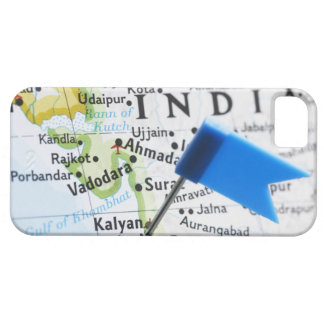 Map pin placed in Mumbai, India on map, close-up iPhone 5 Case