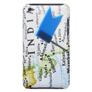 Map pin placed in Mumbai, India on map, close-up iPod Case-Mate Cases