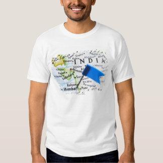Map pin placed in Mumbai, India on map, close-up Tee Shirt