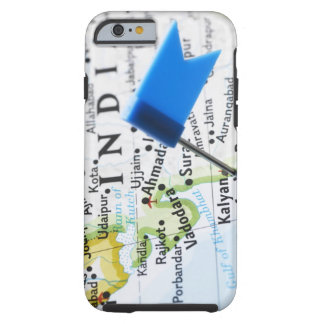 Map pin placed in Mumbai, India on map, close-up Tough iPhone 6 Case