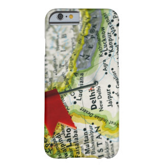 Map pin placed in New Delhi, India on map, Barely There iPhone 6 Case