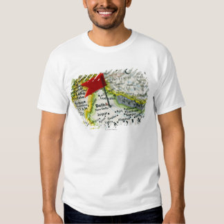 Map pin placed in New Delhi, India on map, T-shirts