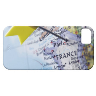 Map pin placed in Paris, France on map, close-up Case For The iPhone 5