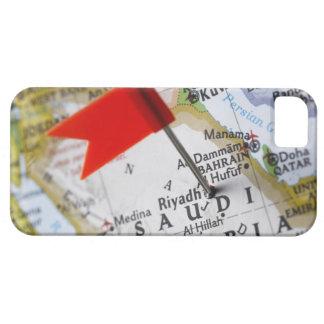 Map pin placed in Riyadh, Saudi Arabia on map, iPhone 5 Cover