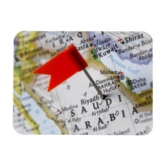 Map pin placed in Riyadh, Saudi Arabia on map, Magnet