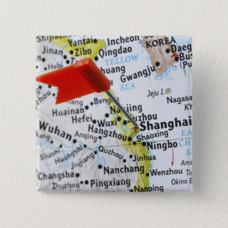 Map pin placed in Shanghai, China on map,