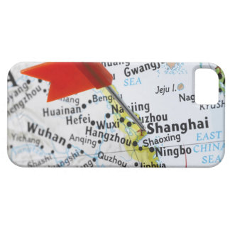 Map pin placed in Shanghai, China on map, Barely There iPhone 5 Case