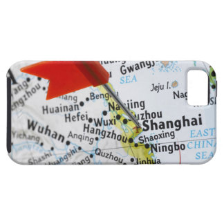 Map pin placed in Shanghai, China on map, iPhone 5 Cover