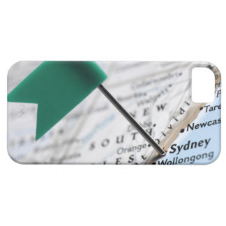 Map pin placed in Sydney, Australia on map, iPhone 5 Case