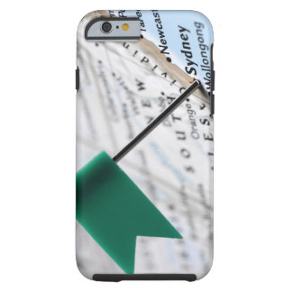 Map pin placed in Sydney, Australia on map, Tough iPhone 6 Case