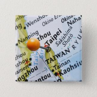 Map pin placed in Taipei, Taiwan on map,
